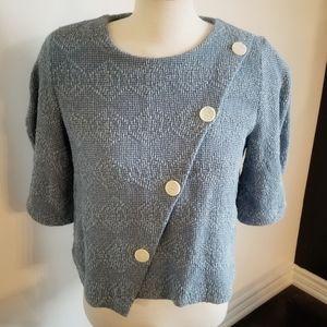 Zara Asymmetrical TRF Collection crop button top